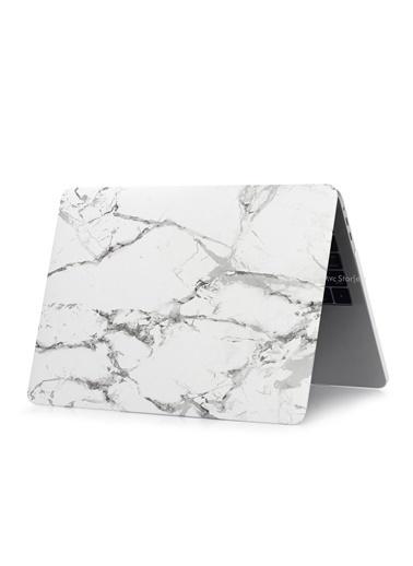 """Mcstorey Yeni MacBook Pro Type-c A1706 A1708 A1989 A2159 13.3"""" Kılıf Kapak Hard case Mermer Renksiz"""